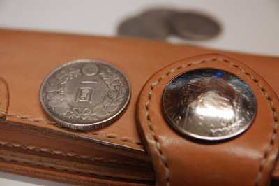 旧一円銀貨コンチョ